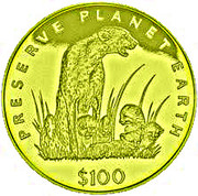 100 Dollars (Cheetah) – reverse