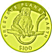 100 Dollars (White Colobus Monkey) – reverse