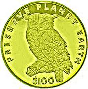 100 Dollars (Cape Eagle Owl) – reverse