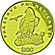 100 Dollars (Laner Falcon) – reverse