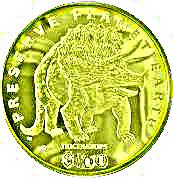 100 Dollars (Triceratops) – reverse