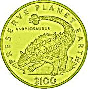 100 Dollars (Ankylosaurus) – reverse