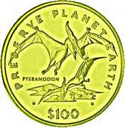 100 Dollars (Pteranodon) – reverse