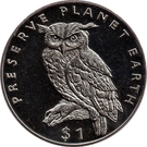 1 Dollar (Cape Eagle Owl) – reverse
