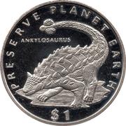 1 Dollar (Ankylosaurus) – reverse