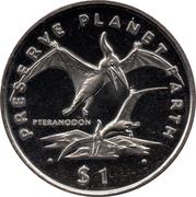 1 Dollar (Pteranodon) – reverse