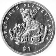 1 Dollar (Lion) – reverse