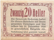 20 Heller (Eschenau) -  reverse