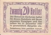 20 Heller (Eschenau) – reverse