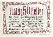 50 Heller (Eschenau) – reverse