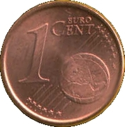 1 Euro Cent (2nd type) – reverse