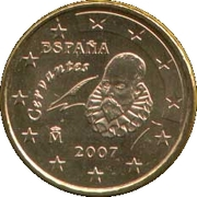10 Euro Cent (1st type; 2nd map) – obverse