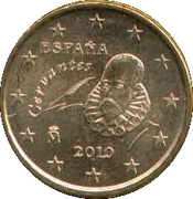 10 Euro Cent (2nd type; 2nd map) -  obverse
