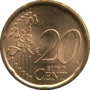 20 Euro Cent (1st type; 1st map) -  reverse