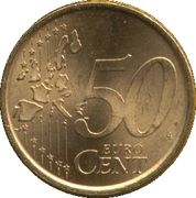 50 Euro Cent (1st type; 1st map) -  reverse