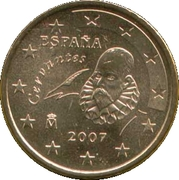 50 Euro Cent (1st type; 2nd map) -  obverse