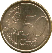 50 Euro Cent (1st type; 2nd map) -  reverse
