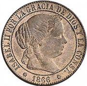 1 Centimo de Escudo - Isabel II – obverse