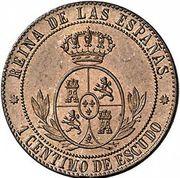 1 Centimo de Escudo - Isabel II – reverse