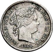 10 Centimos de Escudo - Isabel II – obverse
