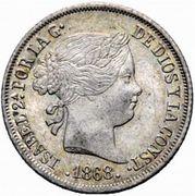 20 Centimos de Escudo - Isabel II – obverse