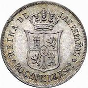 20 Centimos de Escudo - Isabel II – reverse