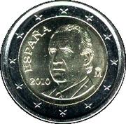 2 Euro - Juan Carlos I (2nd type - 2nd map) -  obverse