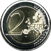 2 Euro - Juan Carlos I (1st type - 2nd map) -  reverse