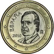 1 Euro - Juan Carlos I (2nd type - 2nd map) -  obverse