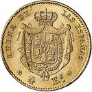 4 Escudos - Isabel II – reverse
