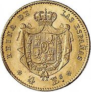 4 Escudos - Isabel II – reverse