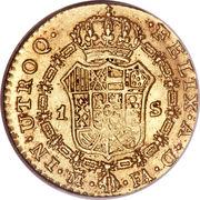 1 Escudo - Carlos IV – reverse