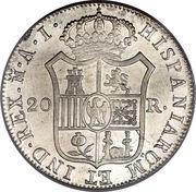 20 Reales - Jose I Bonaparte – reverse