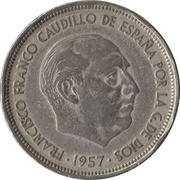50 Pesetas - Francisco Franco -  obverse