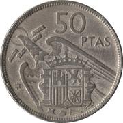 50 Pesetas - Francisco Franco -  reverse