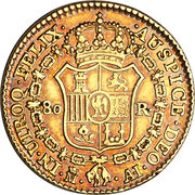 80 Reales - Jose I Bonaparte – reverse