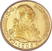 2 Escudos - Carlos IV – obverse