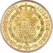 2 Escudos - Carlos IV – reverse
