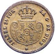 1 Decima de Real - Isabel II – obverse