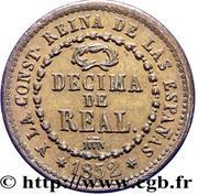 1 Decima de Real - Isabel II – reverse