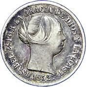 2 Reales - Isabel II – obverse