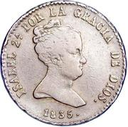 8 Maravedis - Isabel II (1st legend) – obverse