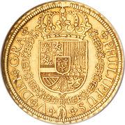 8 Escudos - Felipe V (Segovia,1st type) – obverse
