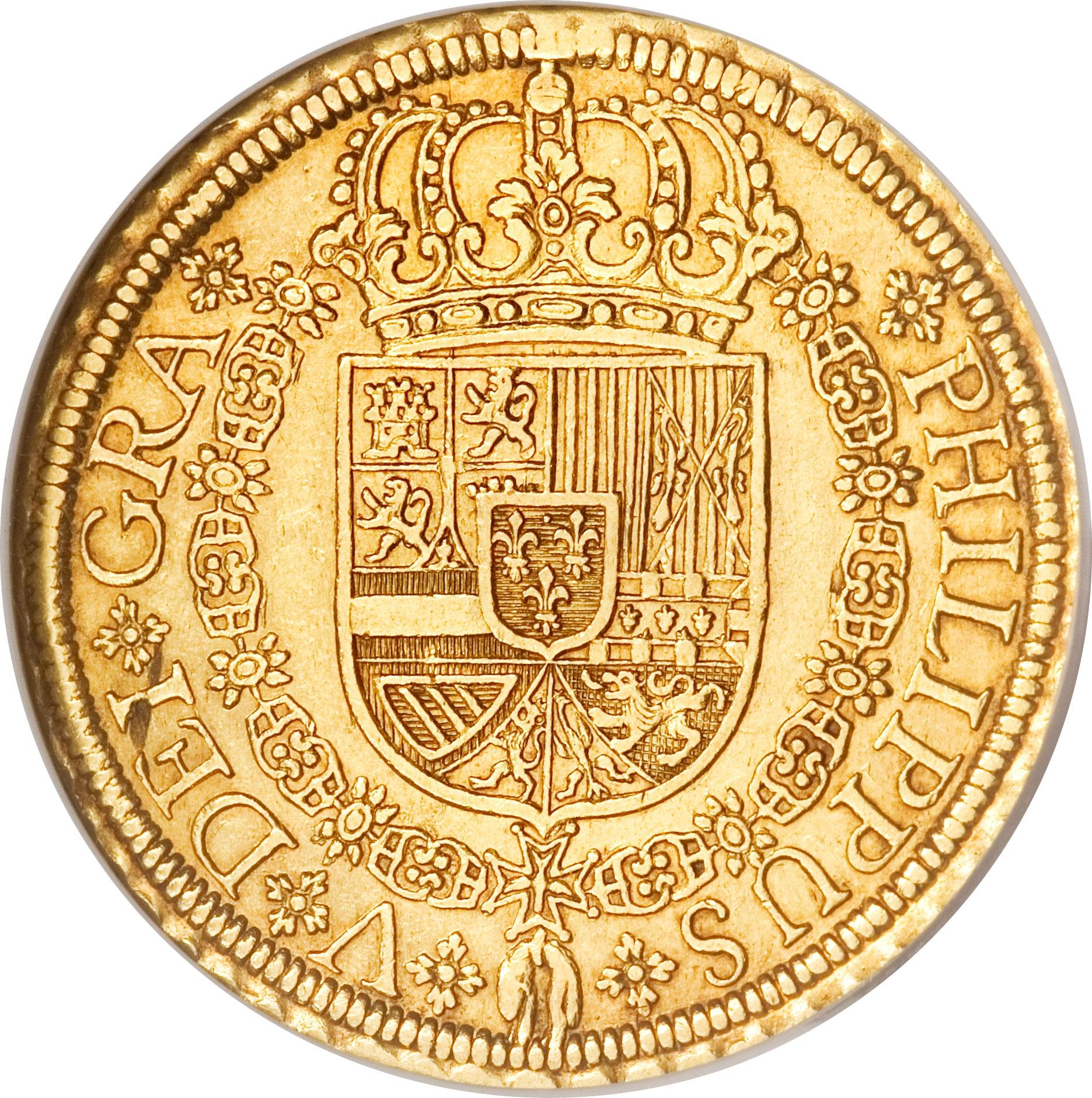foto de 8 Escudos Felipe V (Segovia; 1st type) Spain Numista