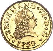 ½ Escudo - Fernando VI (Madrid,2nd type) – obverse