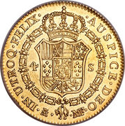 4 Escudos - Carlos IV – reverse