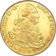 8 Escudos - Carlos IV – obverse