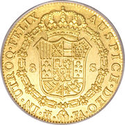 8 Escudos - Carlos IV – reverse