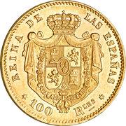100 Reales - Isabel II – reverse