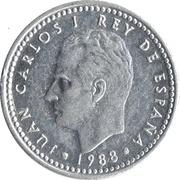 1 Peseta - Juan Carlos I -  obverse
